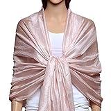 Best Shoulder Wraps - QBSM Women Large Soft Scarf Shawls Pashmina Flax Review