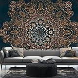 murando – Papier peint intissé 500x280 cm – 5 m– Trompe l oeil - Tableaux muraux – Déco – Mandala - Ornament f-A-0546-x-c