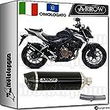 Arrow Kit Auspuff Hom race-tech Aluminium Dark Carby Honda CB 500-f 20161671804AKN + 71640. Ich