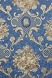 Vinyltapete Tapete Barock Retro # blau/gold # Kingwelson # 690808