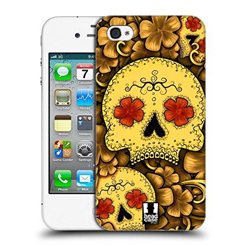 Head Case Designs Violett Blühende Totenköpfe Ruckseite Hülle für Apple iPhone 6 / 6s Gold
