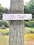 Großes Holzschild für Hochzeit │ Schild aus Holz mit Ihrem Text │ Individuelles Wegweiser-Schild für Party und Hochzeit