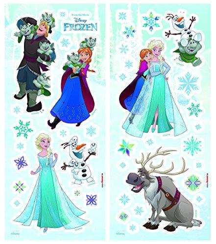 Komar - Disney - Deco-Sticker FROZEN - 14 x 33 cm -  Wandtattoo, Wandbild, Wandsticker, Wandaufkleber, Walltattoo, Eiskönigin, Elsa, Anna, Prinzessinnen - 14803