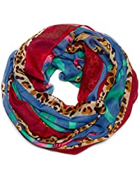 Kandharis Leichter Snood Loopschal Loop-Schal in trendigen Paisley Blumen Floralem Print
