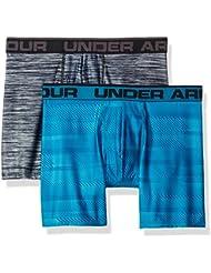 Under Armour Original 6In 2 Pack Novlty Ropa Interior, Hombre, Azul, LG