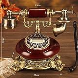 Phone Old-fashioned Push-Button Rotary Disk Telefon Old-fashioned europäischen Stil Idyllischen Telefon Home Telefon Festnetz Festnetztelefon YHX (Farbe : Taste)