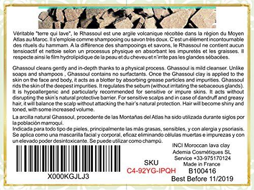 Ghassoul (rhassoul) Authentic Clay Atlas 2,5kg Exquisite spa quality mineral-rich clay from Morocco – Face, Hair, Body Detox