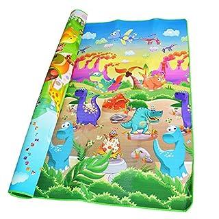 Dinosaur + Animal Zoo Printed Baby Crawling Play Mat Double-Sided Soft Floor Eva Foam Carpet