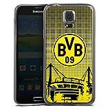 DeinDesign Samsung Galaxy S5 Slim Case transparent anthrazit Silikon Hülle Schutzhülle BVB Muster Borussia Dortmund