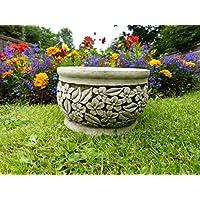 Piccolo vaso di fiori/fioriera–Decorazione da giardino in pietra Scultura Statua Moderna - Roses Statua