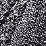 LORENZO CANA Kaschmir-Decke Wohndecke Decke 100% reines Kaschmir handgewebt Sofadecke Kaschmirdecke Wolldecke Schwarz Grau 9611877