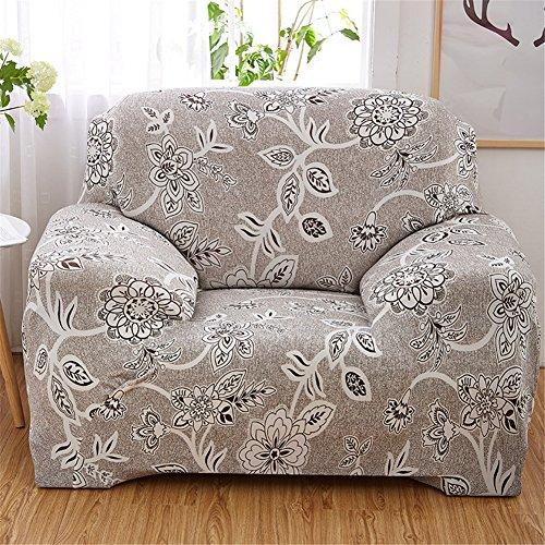 Housse de canapé en tissu Polyester antidérapant élastique, Motif imprimé fleur romaine, Polyester, A: 1 Seater (35-55\