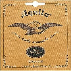 Aquila 21U - Cuerda para ukelele barítono en Re, 4-cuerdas set 21, new Nylgut, EBGD (83 cm)
