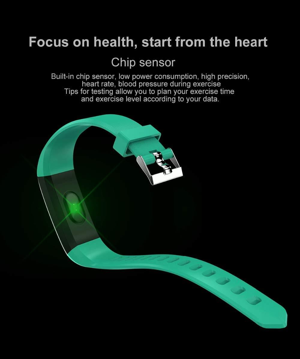 Fitness Tracker, reloj de pulsera de actividad con monitor de presión arterial IP67 resistente al agua con podómetro, contador de calorías y contador de pasos, regalo de cumpleaños para niños, mujeres, hombres 8