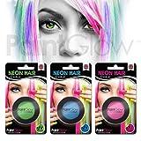 Paintglow UV neon capelli gessetto (3pezzi) festival Fancy Dress temporaneo capelli