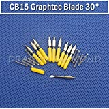 Shopystore 10 Pcs Cb15 Graphtec Blades 30 Degree Plotter Blades For 15Mm Sign Vi