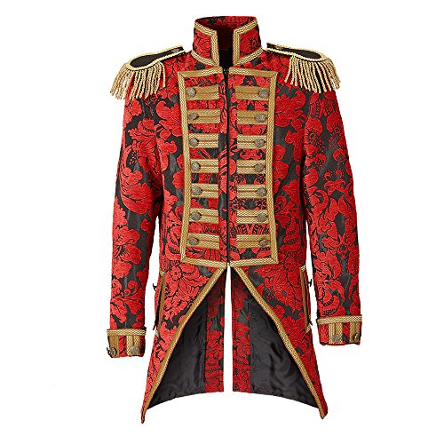 en Frack Jacquard Parade kostüm, M (Halloween-zirkus-kostüme)