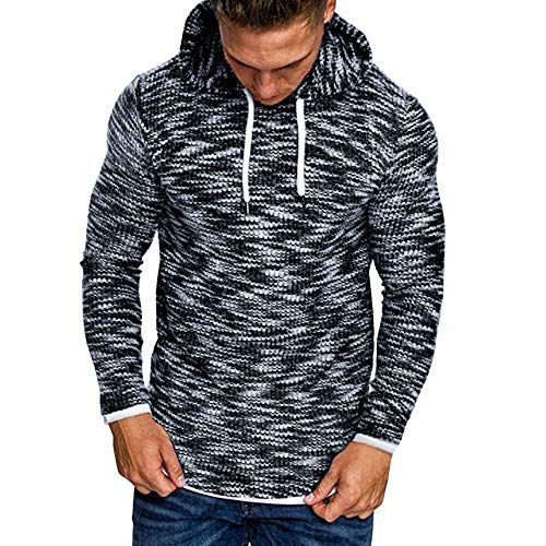 Preisvergleich Produktbild JIANGFU HERREN Herbst-Winter 18 Sweater Casual Langarm Polyester Marine Blouson Jacken Kapuzenpullover L