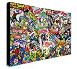 Marvel Comics-Collage Leinwand Kunstdruck, holz, A0 47x33inch