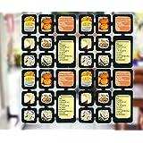 4 Segmente Foto Deko Karten Raumteiler Bilderrahmen Fotocollage Bilderwand Kartenvorhang Bildervorhang Galerie Vorhang Kartenhalter Espresso Schwarz