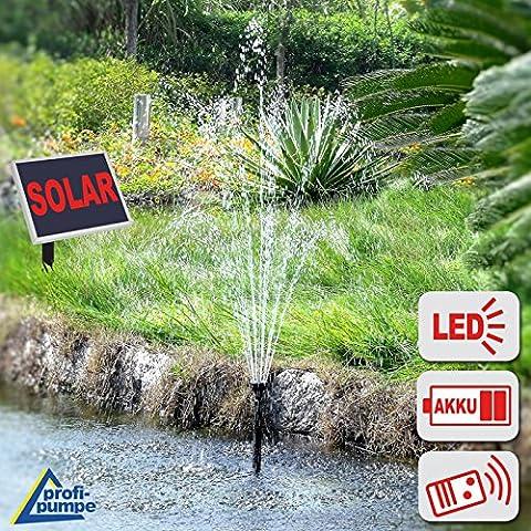 BOMBA SOLAR - BOMBA DE AGUA SUMERGIBLE - FUENTE SOLAR Oslo 300 LUZ+ CONTROL REMOTO - FUENTE DE AGUA para jardín - FUENTE DE AGUA EXTERIOR - FUENTE EN CASCADA con CUADRO de ALUMINIO / BOMBA DE AGUA SOLAR funcionamiento a batería, luz, timer y función de memoria