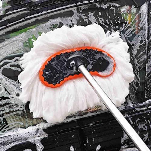 JYXQC - Auto Wasch Bürste Mop Milk Silk Nanowire Car Wash Soft Edge Brush Teleskop-Stiel Nicht Verletze Autofarbe,White,1.2Mpoleset