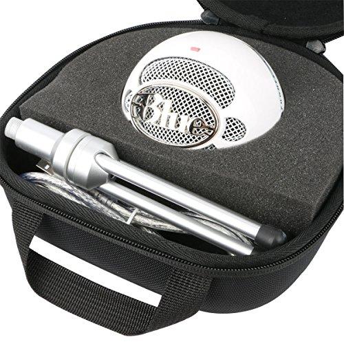 Khanka Dur Cas étui de Voyage Housse Porter pour Blue Microphones Snowball iCE Microphone à condensateur Cardioïde