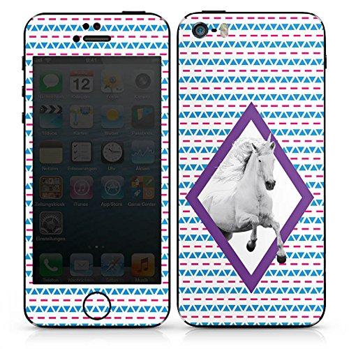Apple iPhone SE Case Skin Sticker aus Vinyl-Folie Aufkleber Unicorn Einhorn Hipster Muster DesignSkins® glänzend