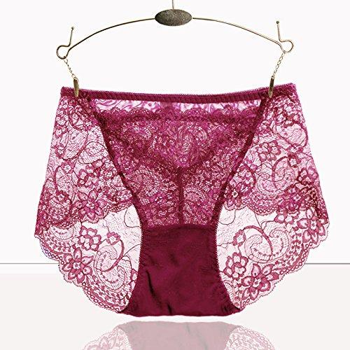 RRRRZ*Sexy Unterwäsche Spitze weibliche Versuchung transparent große Taille Hüfte Bauch Unterwäsche 3 Frau Kok Hose, XL, (Gerippte Bodystocking Kostüme)