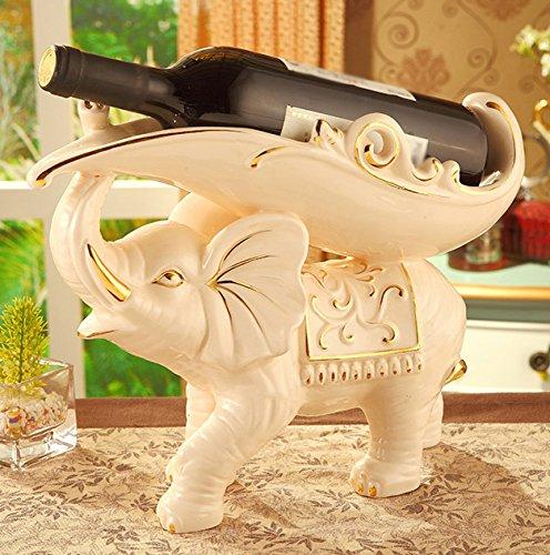 XCF WLQ Wine Rack - Estante de Vino de Elefante de cerámica...