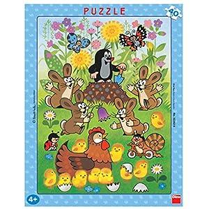 Dino Toys 322028 Escritorio Puzzle con Marco; pequeño Topo de diseño, 40Unidades