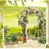 10x 10m boda de naturaleza Retro paisaje Photography Floral arco puerta pilar campo de verano bosque Hermosa Europa Scenic Digital fondo para estudio fotográfico