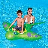 Luftmatratze Schwimmtier Rochen Mantarochen grün