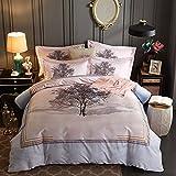 CSSJTZY Baumwolle Vier Stück Vier Stück Bettwäsche Bettdecke Quilt Kissenbezug, Leere Speicher, Bettbezug 220 × 240 2,0 M Bett