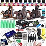DragonHawk Upgrade Full Set Tattoo Kit 3 Machines USA Brand Immortal Inks CE Power Supply EU Plug Needle Grips Tips UPG-3-1