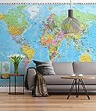 Sunny Decor, SD055, Murale, motivo SD055 Mappa del mondo