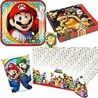 Super Mario Geburtstag Deko Set 54 Teilig Zum Kindergeburtstag Fur
