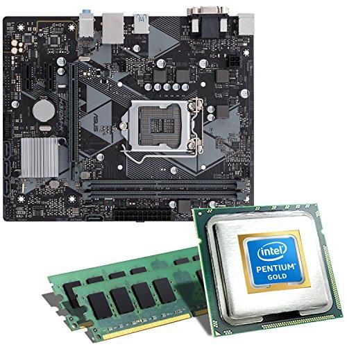 Preisvergleich Produktbild Intel Pentium Gold G5400 / ASUS PRIME H310M-K Mainboard Bundle / 16GB / CSL PC Aufrüstkit / Intel Pentium Gold G5400 2x 3700 MHz,  16GB DDR4-RAM,  Intel UHD Graphics 630,  GigLAN,  7.1 Sound,  USB 3.1 / Aufrüstset / PC Tuning Kit