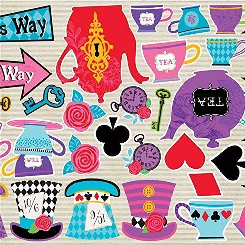 Kostüm Themen Buch - Fancy Me Kinder Erwachsene Tv Buch Film Hutmacher Alice Themen Kostüm Tee Party Packung mit 30 Partydekorationen