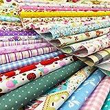 flic-flac Baumwolle Craft Stoff Bundle Squares Patchwork Fusseln DIY Nähen