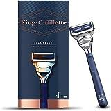 King C. Gillette Men's Neck Razor, Designed for Shaving the Sensitive Skin of your Neck and Cheeks with Gillette's Best, Shar