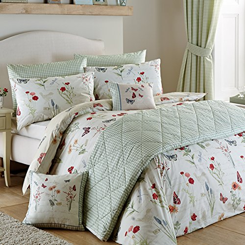 'Country Journal' Double Duvet Cover Set in Multi, Includes: 1x Double Duvet Cover and 2x Pillowcases Best Price and Cheapest