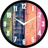#7: IT2M 11.75 inch - Coloured Wooden Look Wall Clock (9109)