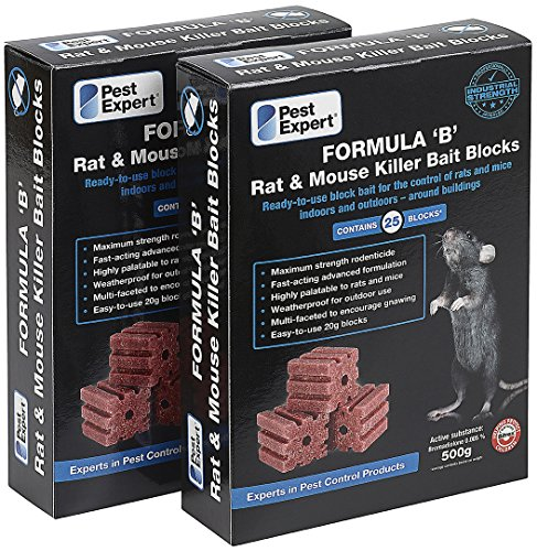 Poison souricide en cubes / blocs 1kg (50 blocs / cubes) de Pest Expert.