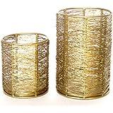Nexplora Industries Decorative Tealight Candle Holder Set Of 2 (Gold)