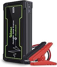 Guluman 800A 16800mAh Tragbare Auto Starthilfe Autobatterie Anlasser, 12V PKW/LKW tragbare Batterie Starthilfe Jump Starter Powerbank, Startet Fahrzeuge mit einem Hubraum bis zu 8.0 Liter (Benzin) und bis 6.0 Liter (Diesel)