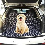 WEIJIGUOJI Hund Auto Sitzbezug Pfotenmuster Wasserdicht Schutz Hunde Autositz