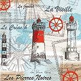 """""""Sea Breeze–Pack de 20servilletas de papel–33x 33cm–3ply–decoupage vintage"""