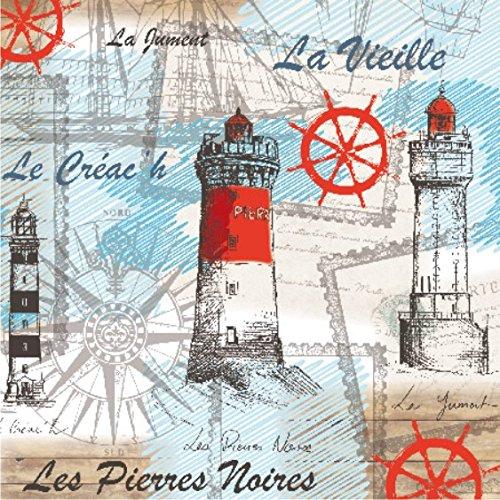"""""""brisa marina"""" - juego de 20 servilletas de papel - 33 x 33 cm - 3ply - Vintage para Collage"""