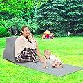 soundwinds Tragbare Strandmatte aufblasbare Sonnenliege Strandbett Klappbar Gartenbett Dreiecks-Sonnenbadematte Rückenkissen Kissen Stuhl für Picknick Camping von soundwinds - Gartenmöbel von Du und Dein Garten